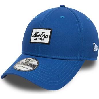 Gorra curva azul ajustada para niño 39THIRTY Seasonal Script Patch de New Era