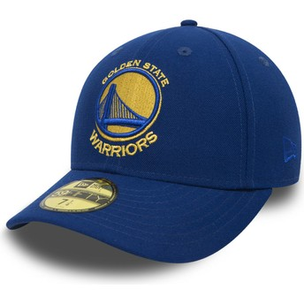 Gorra plana azul ajustada 59FIFTY Low Profile Classic de Golden State Warriors NBA de New Era