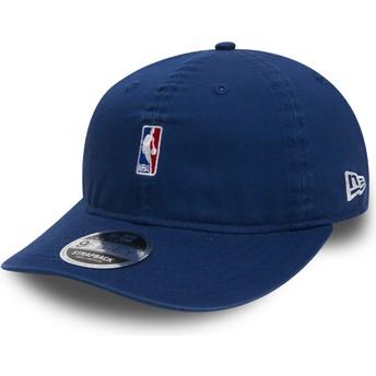Gorra plana azul snapback para niño 9FIFTY Low Profile NBA Logo de New Era