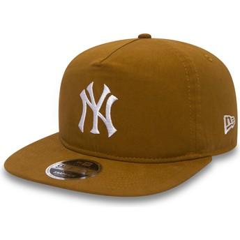 Gorra plana marrón snapback 9FIFTY A Frame Lightweight de New York Yankees MLB de New Era