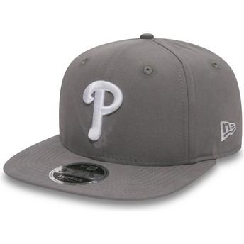 Gorra plana gris snapback 9FIFTY Essential Lightweight de Philadelphia Phillies MLB de New Era