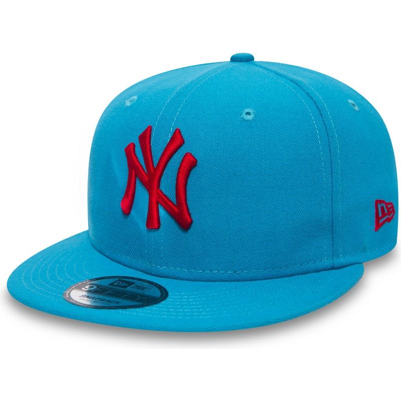 41f44987e2e8a Gorra plana azul snapback con logo rojo 9FIFTY Essential League de ...