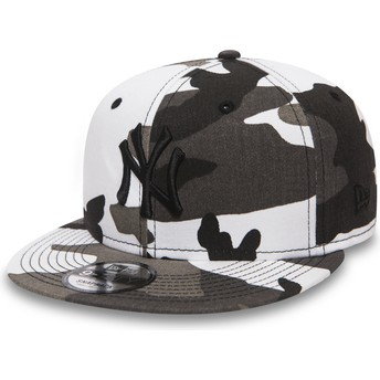 Gorra plana camuflaje snapback con logo negro 9FIFTY Essential League de New York Yankees MLB de New Era