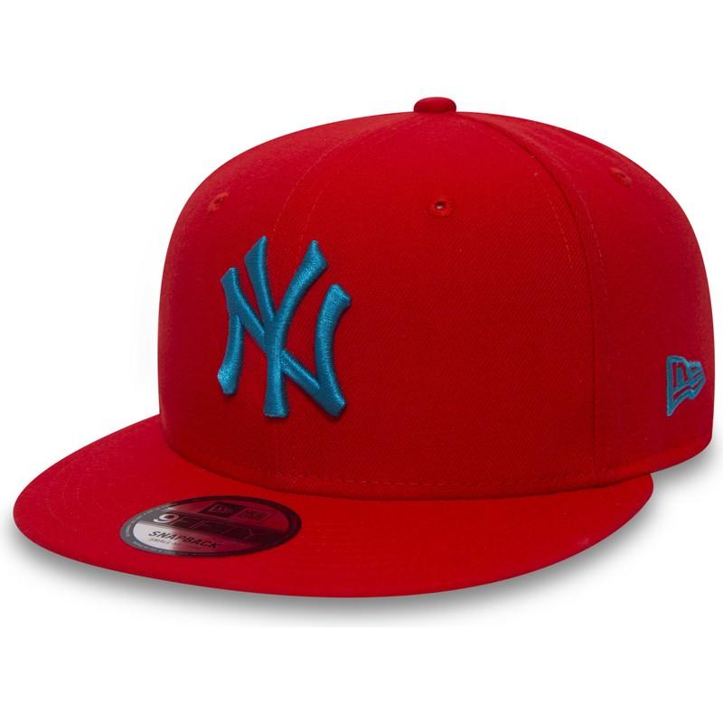 29f09b65a4cae Gorra plana roja snapback con logo azul 9FIFTY Essential League de ...