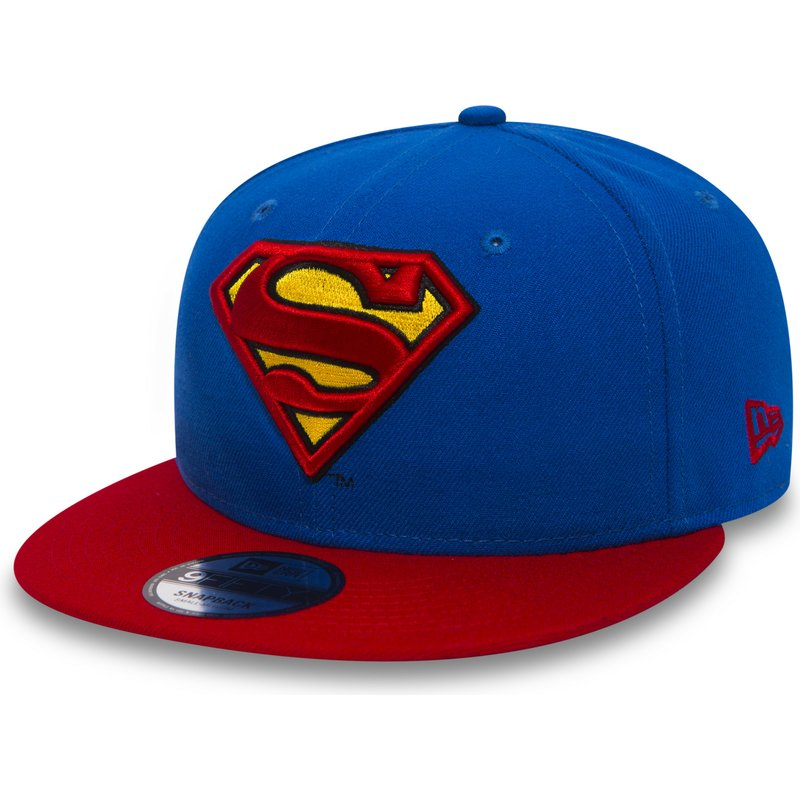 Gorra plana azul snapback con visera roja 9FIFTY Team de Superman ... ab3fdb139b4