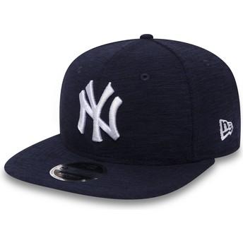 Gorra plana azul marino snapback 9FIFTY Slub de New York Yankees MLB de New Era