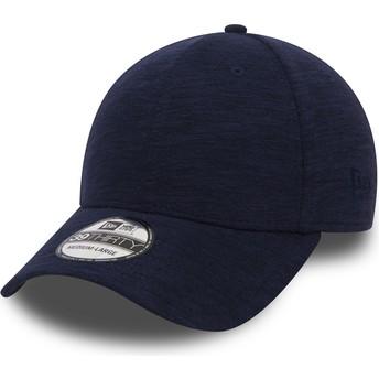 Gorra curva azul marino ajustada 39THIRTY Slub de New Era