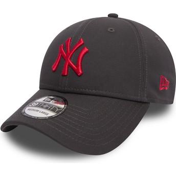 Gorra curva piedra ajustada con logo rojo 39THIRTY Essential League de New York Yankees MLB de New Era
