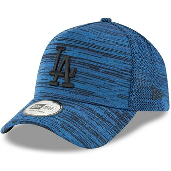 Gorra curva azul ajustable con logo negro 9FORTY A Frame Engineered Fit de Los Angeles Dodgers MLB de New Era