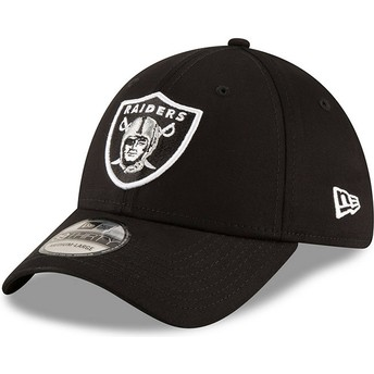 Gorra curva negra ajustada 39THIRTY Base de Oakland Raiders NFL de New Era