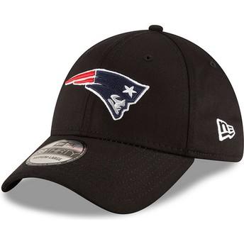 Gorra curva negra ajustada 39THIRTY Base de New England Patriots NFL de New Era