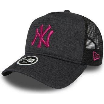 Gorra trucker gris 9FORTY Essential Jersey de New York Yankees MLB de New Era