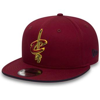 Gorra plana roja snapback 9FIFTY Team de Cleveland Cavaliers NBA de New Era