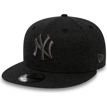 Gorra plana gris snapback con logo gris 9FIFTY Essential Jersey de New York Yankees MLB de New Era