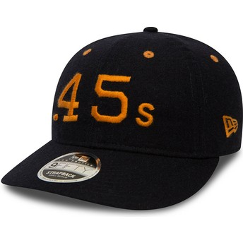 Gorra plana negra snapback 9FIFTY Low Profile Flannel de Houston Colts MLB de New Era