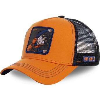 Gorra trucker naranja Goten Fusion GTN1 Dragon Ball de Capslab