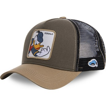 Gorra trucker marrón Pato Donald DON1 Disney de Capslab