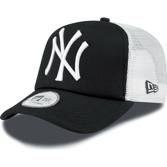 Gorra trucker negra Clean A Frame de New York Yankees MLB de New Era