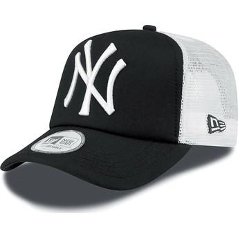 Gorra trucker negra Clean A Frame de New York Yankees MLB de New Era
