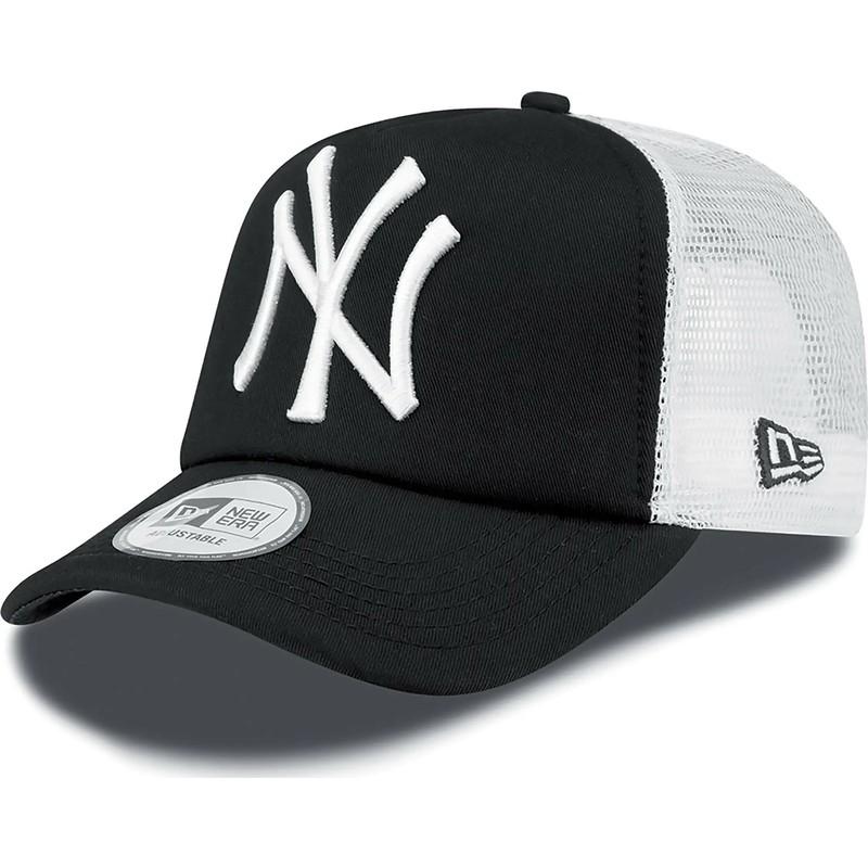 244bb2ace1ec2 Gorra trucker negra Clean A Frame de New York Yankees MLB de New Era ...