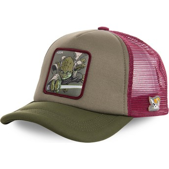Gorra trucker verde y roja Yoda YOD4M Star Wars de Capslab