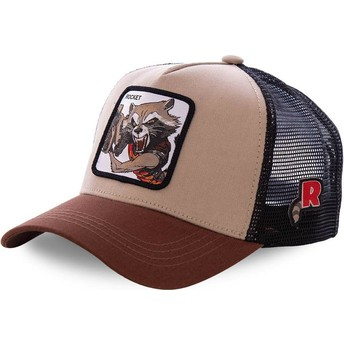Gorra trucker marrón Rocket Raccoon ROC1 Marvel Comics de Capslab