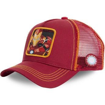Gorra trucker roja y amarilla Iron Man IRO1 Marvel Comics de Capslab