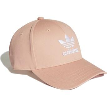 Gorra curva rosa ajustable Trefoil Baseball de Adidas