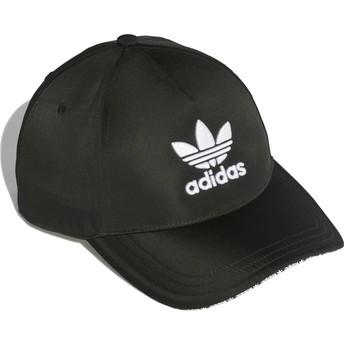 Gorra curva negra ajustable Trefoil Sandwich de Adidas