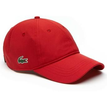 Gorra curva roja ajustable Basic Dry Fit de Lacoste