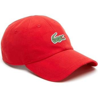 Gorra curva roja ajustable Croc Microfibre de Lacoste