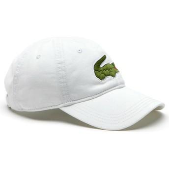 Gorra curva blanca ajustable Big Croc Gabardine de Lacoste