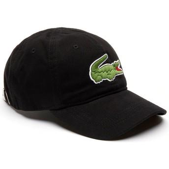 Gorra curva negra ajustable Big Croc Gabardine de Lacoste
