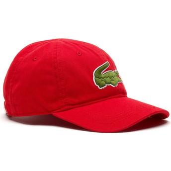 Gorra curva roja ajustable Big Croc Gabardine de Lacoste