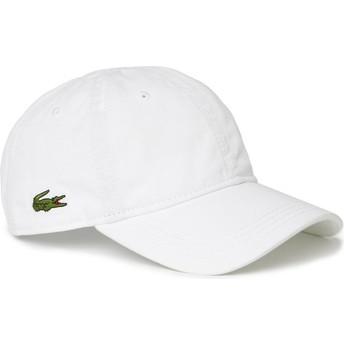 Gorra curva blanca ajustable Basic Side Crocodile de Lacoste