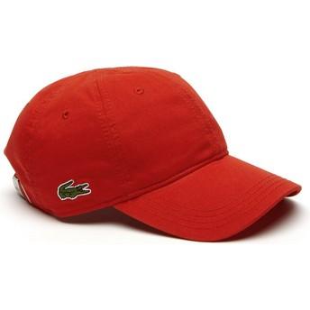 Gorra curva roja ajustable Basic Side Crocodile de Lacoste