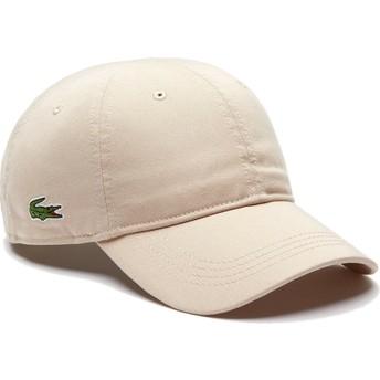 Gorra curva beige ajustable Basic Side Crocodile de Lacoste