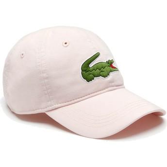 Gorra curva rosa claro ajustable Big Croc Gabardine de Lacoste