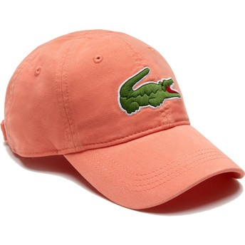 Gorra curva naranja claro ajustable Big Croc Gabardine de Lacoste