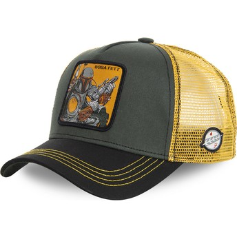 Gorra trucker verde y amarilla Boba Fett BOB Star Wars de Capslab
