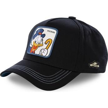 Gorra curva negra snapback Tío Gilito SCR3 Disney de Capslab