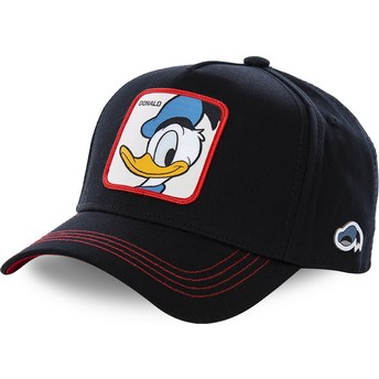Gorra curva negra snapback Pato Donald DUC3 Disney de Capslab