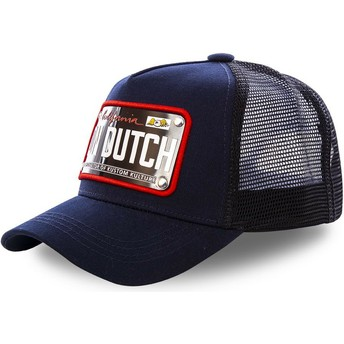 Gorra trucker azul marino con placa California CAL2 de Von Dutch