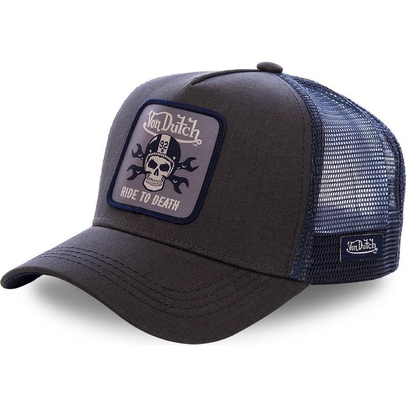 08d0f33b8528 Gorra trucker negra y azul GRN4 de Von Dutch