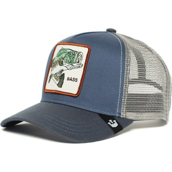 Gorra trucker azul pez Big Bass de Goorin Bros.