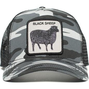 Gorra trucker camuflaje negro oveja Naughty Lamb de Goorin Bros.