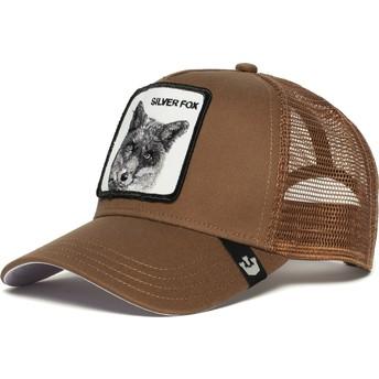 Gorra trucker marrón zorro Silver Fox de Goorin Bros.