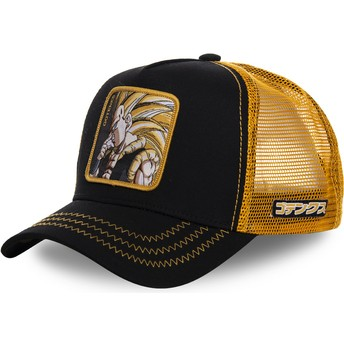 Gorra trucker negra y amarilla Gotenks Super Saiyan 3 GOT2 Dragon Ball de Capslab
