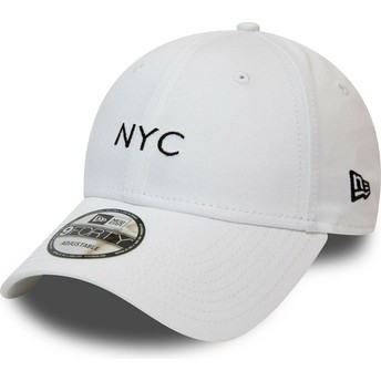Gorra curva blanca ajustable 9FORTY Seasonal NYC de New Era