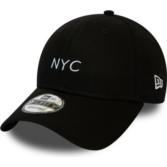 Gorra curva negra ajustable 9FORTY Seasonal NYC de New Era